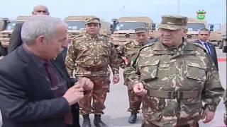 الفريق قايد صالح يدشن أولى نماذج شاحنات مرسيديس الموجهة للجيش الجزائري 2016
