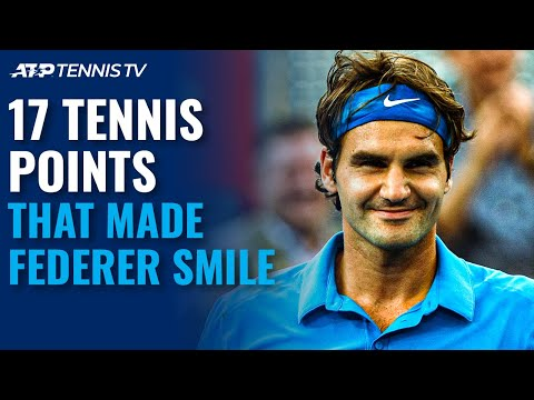 17 Tennis Points That Made Roger Federer Smile! 😊