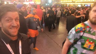 Live from Fremont street with the crypto YouTube fam