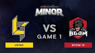 Lotac VS BOOM ID | Bo3 l Grand Finals | StarLadder ImbaTV Dota 2 Minor SEA Qualifiers | Game 1