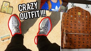 WEARING A CRAZY OUTFIT ON MY FIRST DAY OF HIGHSCHOOL!!