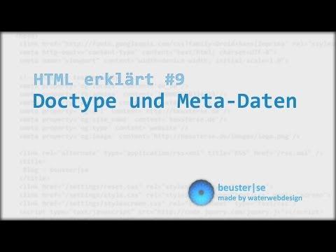 HTML Erklärt #9 Doctype Und Meta-Daten