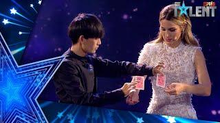 El INCREÍBLE TRUCO de MAGIA de YAO con Edurne y las cartas | Semifinal 01 | Got Talent España 2021