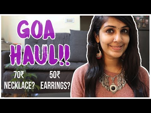 I Got SUPER CHEAP Jewellery From Goa! --- From ₹50 To ₹250 | GOA HAUL