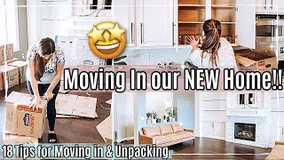 🤩 WE'RE MOVING IN!! NEW HOUSE UNPACK WITH ME 2021 + 18 of my BEST MOVING HACKS & UNPACKING TIPS
