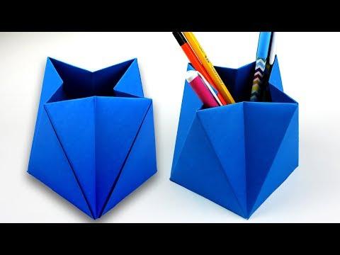 Easy Diy Idea Pencil Holder | Popular Craft | Paper Pen Holder For Kids Idea