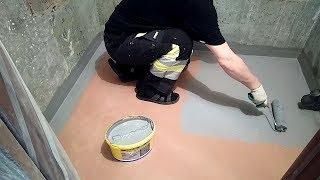 видео Гидроизоляция ванной комнаты (пол, стены) под плитку