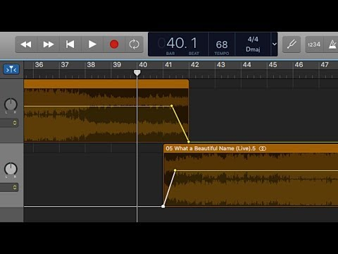 How to edit sections of worship song mp3s to change the arrangement