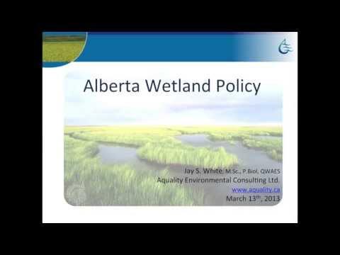 Alberta Wetland Policy