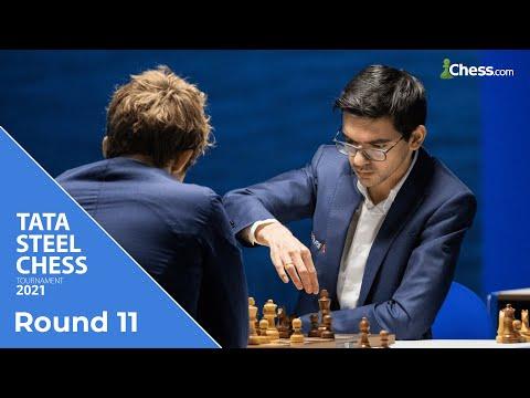 World Chess Champ vs Tournament Leader | Tata Steel Chess 2021
