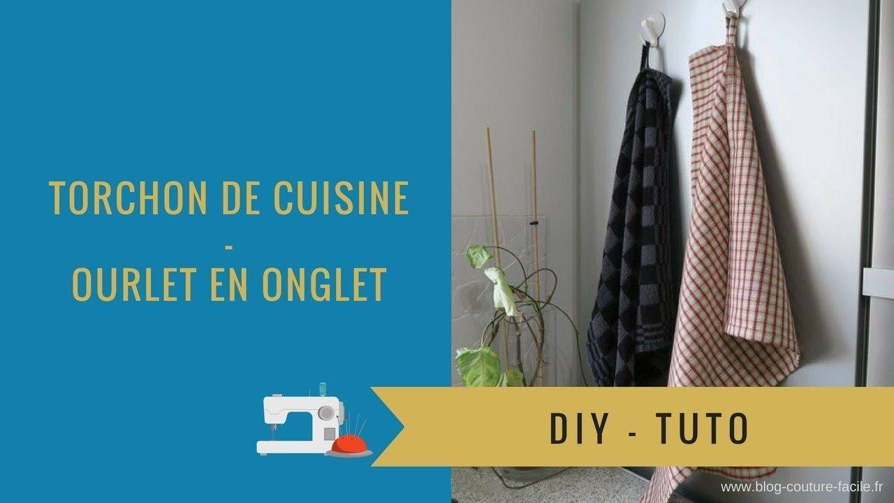 Diy Torchon De Cuisine Ourlet En Onglet