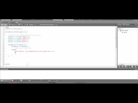 How to make a PHP Registration and Login Form - Full Video!!