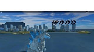 Roblox Kaiju Online Frozen Godzilla gameplay