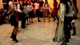 Serbian dance. Balkan culture night. Goettingen.
