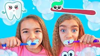 Lavar los dientes la cancion de Gisele y Claudia Las Ratitas