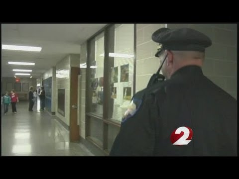 Armed officers walk the halls of Greeneview Local Schools