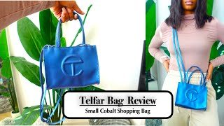 Telfar bag review | small cobalt shopping bag.... honest review!!!