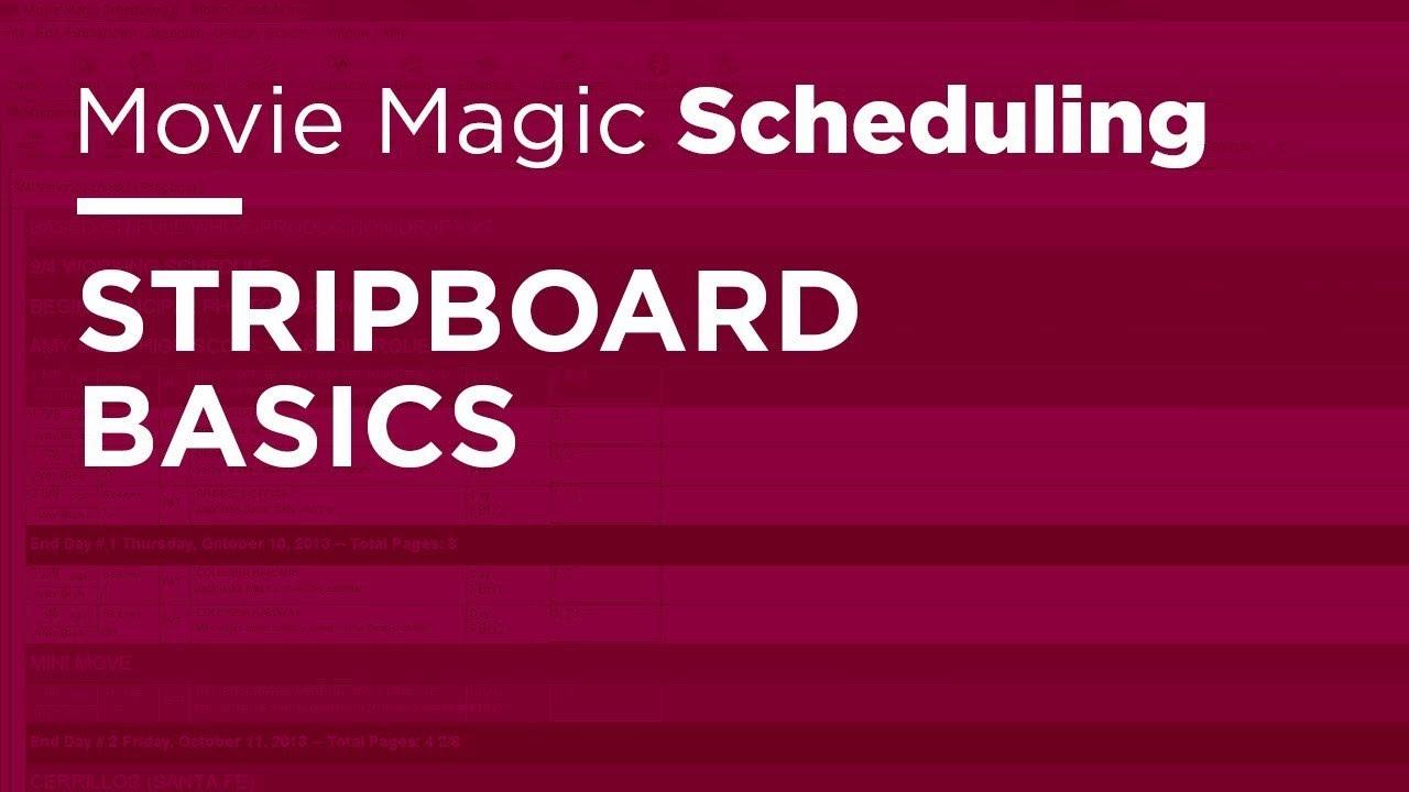 Movie Magic Scheduling Stripboard Basics Youtube