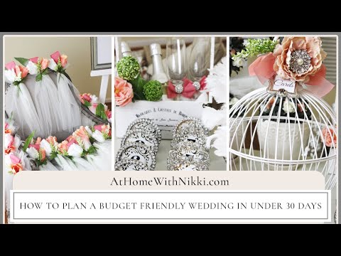 How To Plan Budget Friendly Wedding In Under Days