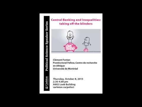 "Clément Fontan ""Central Banking and Inequalities: taking off the blinders"""