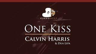 Calvin Harris & Dua Lipa - One Kiss - HIGHER Key (Piano Karaoke / Sing Along)