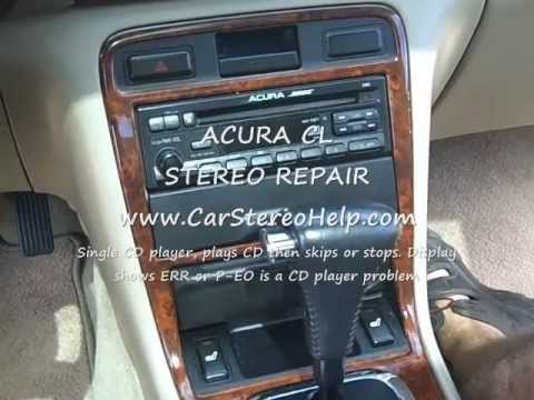 Acura CL Radio Removal And Repair YouTube - Acura cl 97