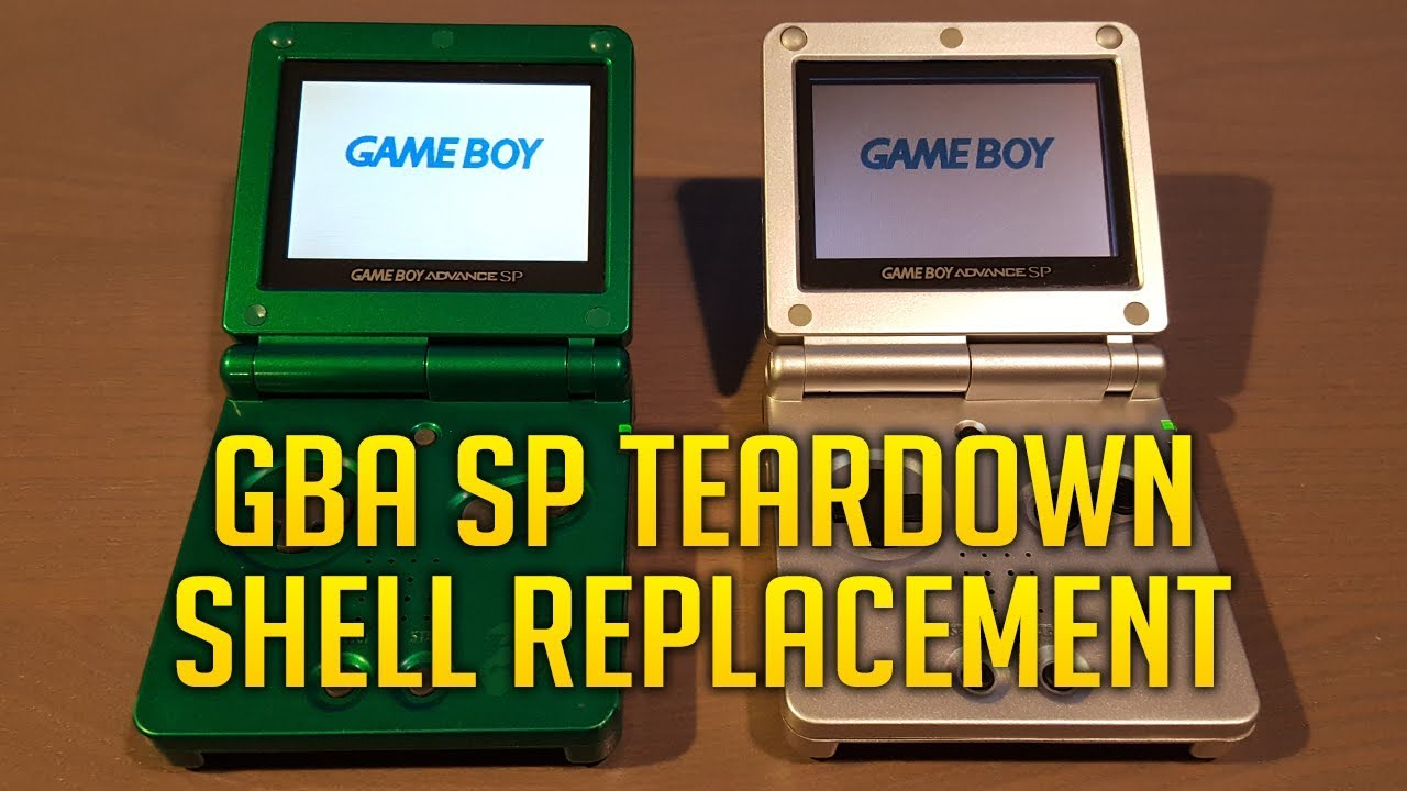 how to take apart a gameboy advance sp