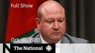 CBC News: The National | Drastic measures in Manitoba after record COVID-19 cases | Oct. 30, 2020