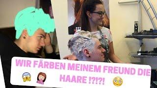 WIR FÄRBEN MEINEM FREUND DIE HAARE !?! | lisamariefersch