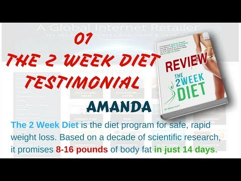 Product Reviews Diet, Weight Loss on ClickBank: 01 Review – The 2 Week Diet Testimonial – Amanda