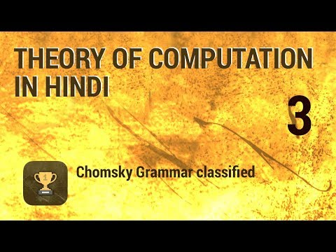 3 Theory of Computation - Chomsky Grammar classified