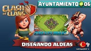 Clash of Clans #LunesdeDiseñandoAldeas (Ayuntamiento Nivel 6) Proteger Trofeos/Copas Modelo #1