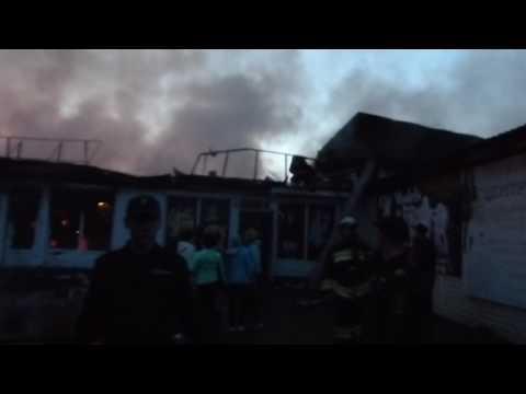 Последствия пожара в Торговом квартале, Минусинск
