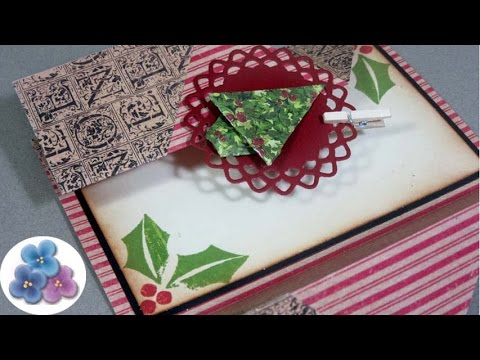 Tarjetas navide as double fold christmas cards - Ideas postales navidad ...