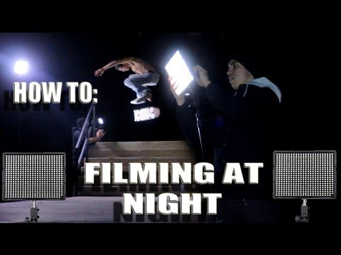 How to: Skateboard Filming at Night Without Generator