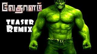 Video Vedalam Teaser Remix-Hulk Version download MP3, 3GP, MP4, WEBM, AVI, FLV Agustus 2018