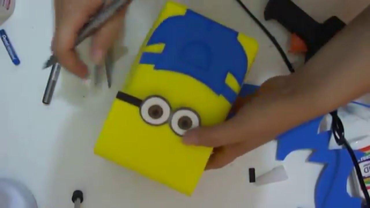 4e739890c DIY - Sacolinha surpresa Minions de caixa de leite e EVA - YouTube