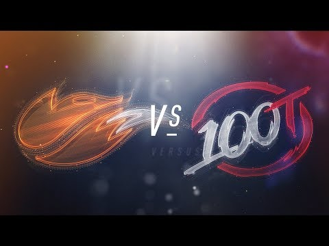 FOX vs 100 - NA LCS Week 5 Day 1 Match Highlights (Spring 2018)