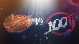 FOX vs 100 - NA LCS Week 5 Day 1 Match Highlights (Spring 2018)