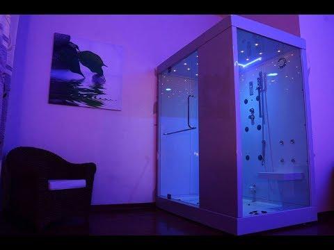 Box doccia idromassaggio con sauna bagno turco karma 180x130 idrocav by idromagie youtube - Italbagno cavenago ...