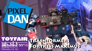 Transformers Titans Return Fortress Maximus and Product Walkthrough at Toy Fair 2016