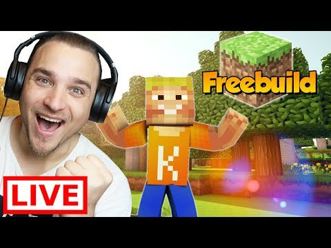 🔴 Minecraft FreeBuild Server (Spaß mit der Community)
