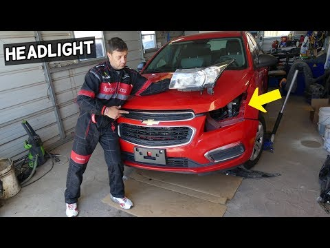 CHEVROLET CRUZE HEADLIGHT REMOVAL REPLACEMENT. CHEVY CRUZE