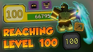 REACHING *LVL 100* IN DUNGEON QUEST!!! - Roblox