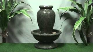 Green Granite Urn - Resin Water Feature