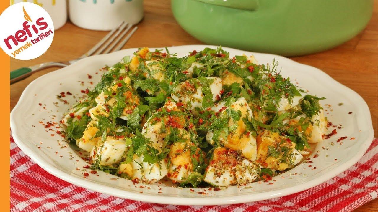 Yumurta salatası tarifi | ÇOX DADLI YUMURTA SALATININ HAZIRLANMASI | DELİCİOUS EGG  SALAD RECİPE