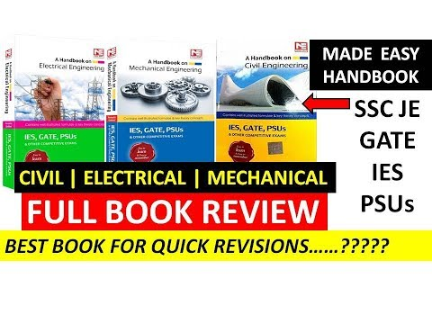 MadeEasy handbook BOOK REVIEW for SSC JE| GATE| IES |ELECTRICAL|CIVIL|MECHANICAL