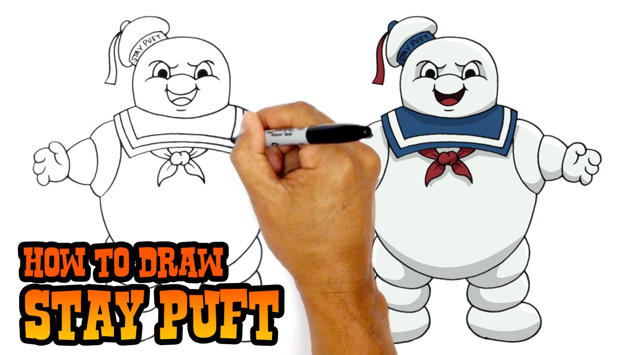 How To Draw Stay Puft Ghostbusters Youtube