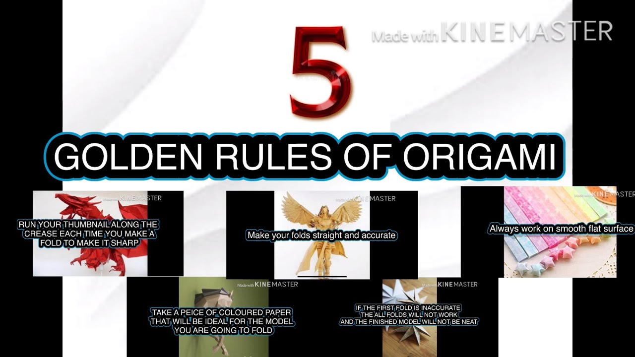5 GOLDEN RULES OF ORIGAMI| THAT WILL HELP YOU TO IMPROVE YOUR  ART SKILLS