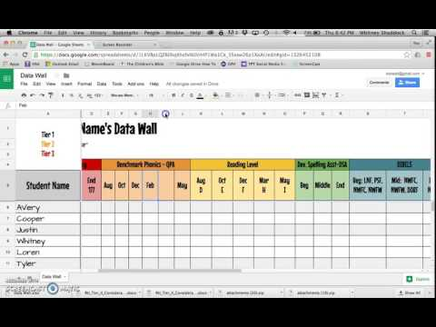 Data Wall On Google Drive: Part 1